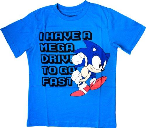 SONIC - T-Shirt Mega Drive to Go Fast Blue ( 164/170 ) : TShirt , ML
