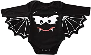 SUMTTER Baby Strampler Neugeborenes Jungen Mädchen Halloween Cosplay Kostüm Fledermaus Ärmel Strampler
