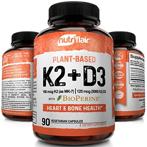 Nutriflair Plant-Based Vitamin K2 + D3 Supplement