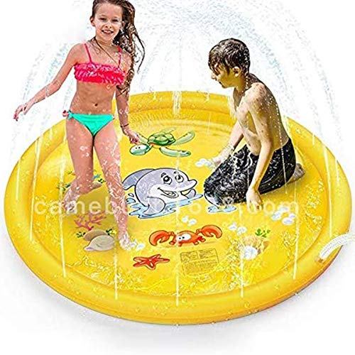 Transbeds Inflable Sprinklers for Kids Splash Water Play Mat para Niños al Aire Libre Regadera Great Summer Fun 60inch Inflables