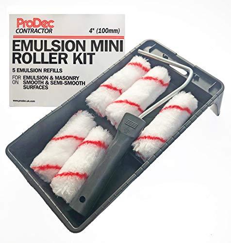 Mini-Roller-Set für Emulsion und Mauerwerk, 100 mm, für glatte und halbglatte Oberflächen