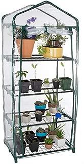 Pure Garden M150077 27.5 x 19 x 63 in. 4 Tier Mini Greenhouse with Cover