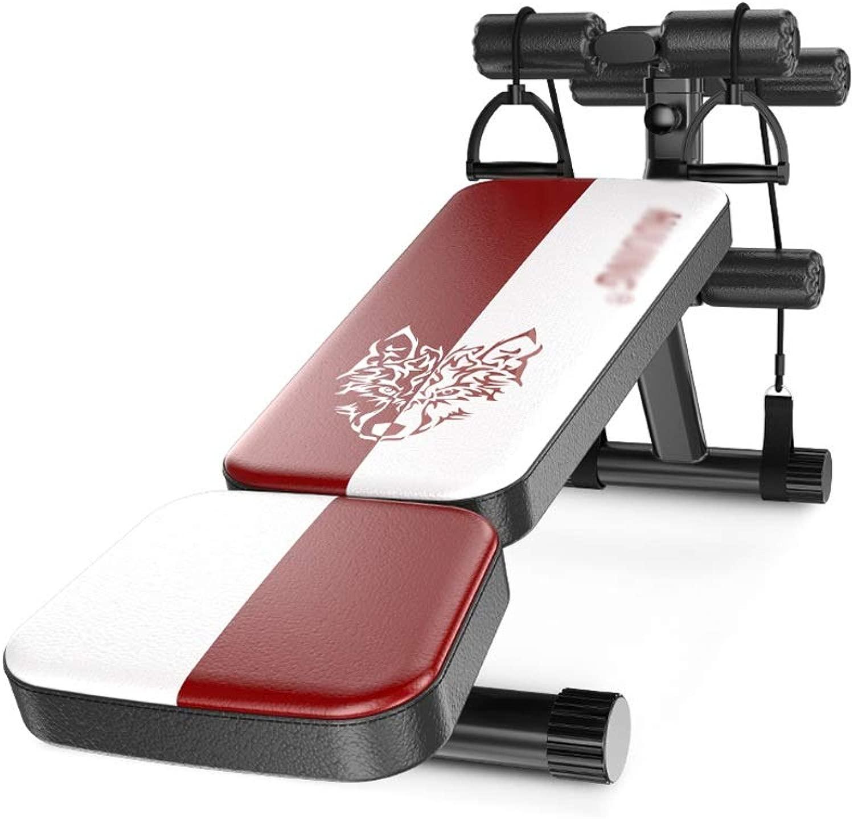 ウェイトトレーニングベンチ ウェイトベンチ、折りたたみトレーニング腹筋ボードスポーツ腹筋フィットネス機器ホーム仰臥ボード ベンチプレス