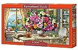Castorland- Summer Flowers and Cup of Tea 4000 pcs Puzle, Multicolor (C-400263-2) , color/modelo surtido