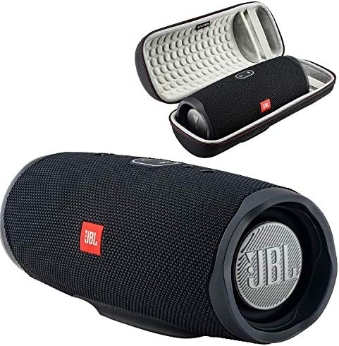 JBL Charge 4 Waterproof Wireless Bluetooth Speaker Bundle with Boomph Portable Hard Carrying Protective Case – Black
