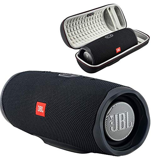 JBL Charge 4 Waterproof Wireless Bluetooth Speaker Bundle with Boomph Portable Hard Carrying Protective Case - Black