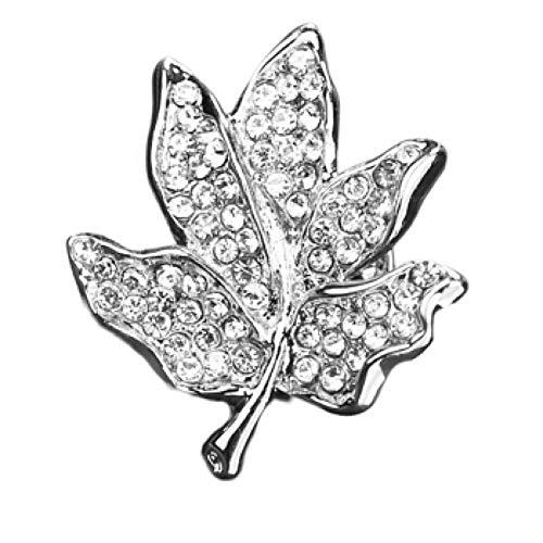 GZRUIGE esdoornblad kraag stereo esdoornblad broche heren dames pak jas overhemd corsage goud zilver