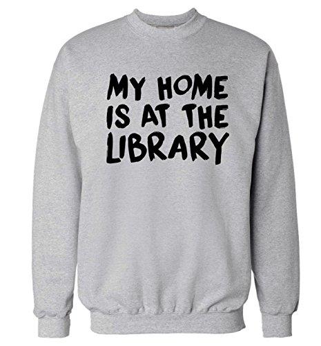 Flox Creative My Home is at The Library Felpa | Maglione XS fino a 2XL Grigio M