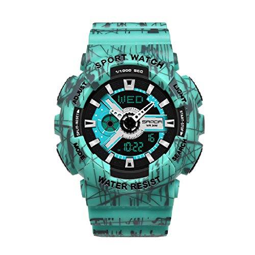 Lvmiao Relojes de Moda para Adolescentes, Relojes Deportivos Impermeables Luminosos, Relojes electrónicos de Pareja, Conjuntos de Relojes Reloj de Relojes de Relojes de Hombre,Woman 5
