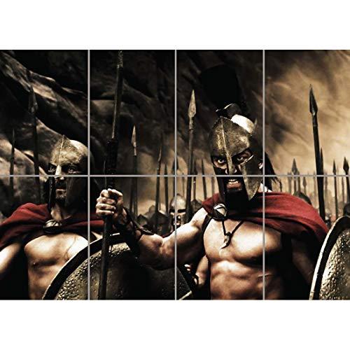 Doppelganger33 LTD 300 Sparta Movie Film Gerard Butler Wand Kunst Multi Panel Poster drucken 47x33 Zoll