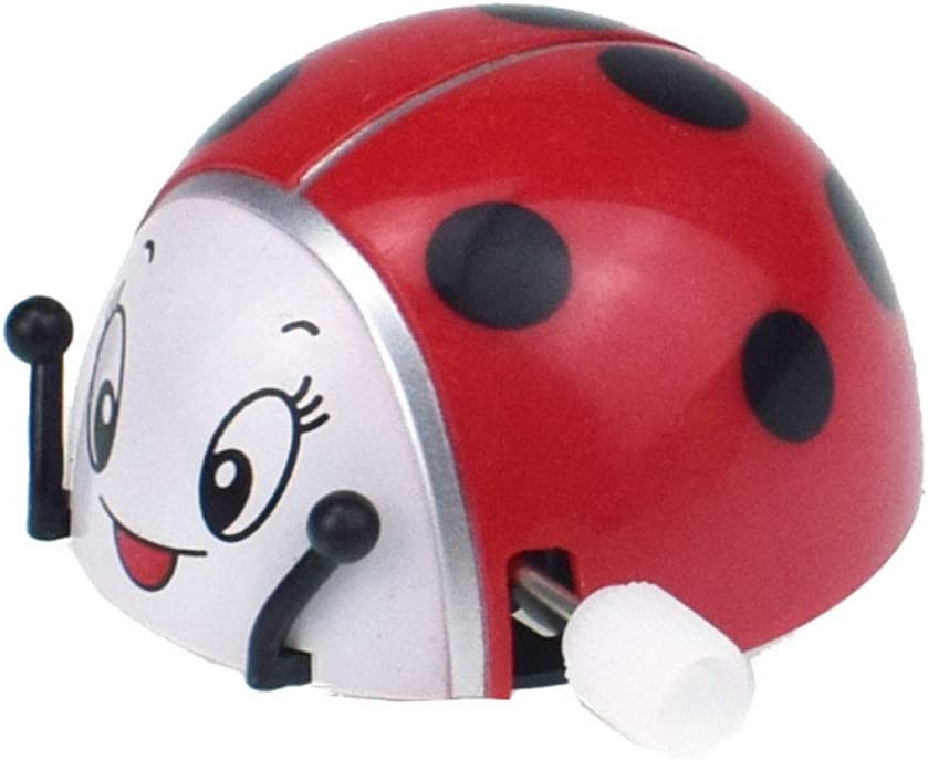 WANGYUMI Spring Ladybird Wind Up Somersault Rotation Toys Kids Children Gifts Funny Play Insect Toy Clockwork Interactive Intellectual Educational