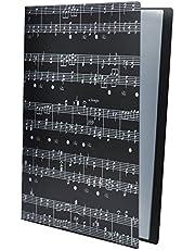 Carpeta de archivos de música A4, tamaño A4, carpeta de música, documentos de papel, temas de música, 40 bolsillos carpeta de almacenamiento