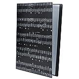 Punk - Carpeta archivadora tamaño A4 para informes, partituras y recortes, color Music Sheet Black negro