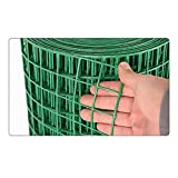LSXIAO-Decorative Fences Green Wire Fence Roll, Garden Security Netting, PVC Coated Galvanized Hardware Cloth Mesh Size 3x3cm for Poultry Fence, Chicken Wire, Sidewalk (Color : 2.2mm, Size : 1.5x30m)