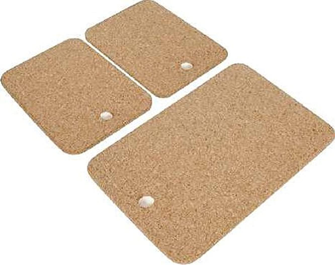 Cork Nature 490522 Cork Cheese Cutting Boards, Set of 3