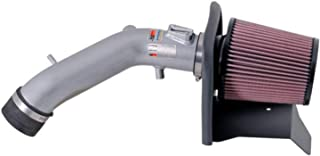 K&N Cold Air Intake Kit with Washable Air Filter: 2004-2007 Honda Accord, 2.4L L4, Polished Metal Finish with Red Oiled Filter, 69-1209TS