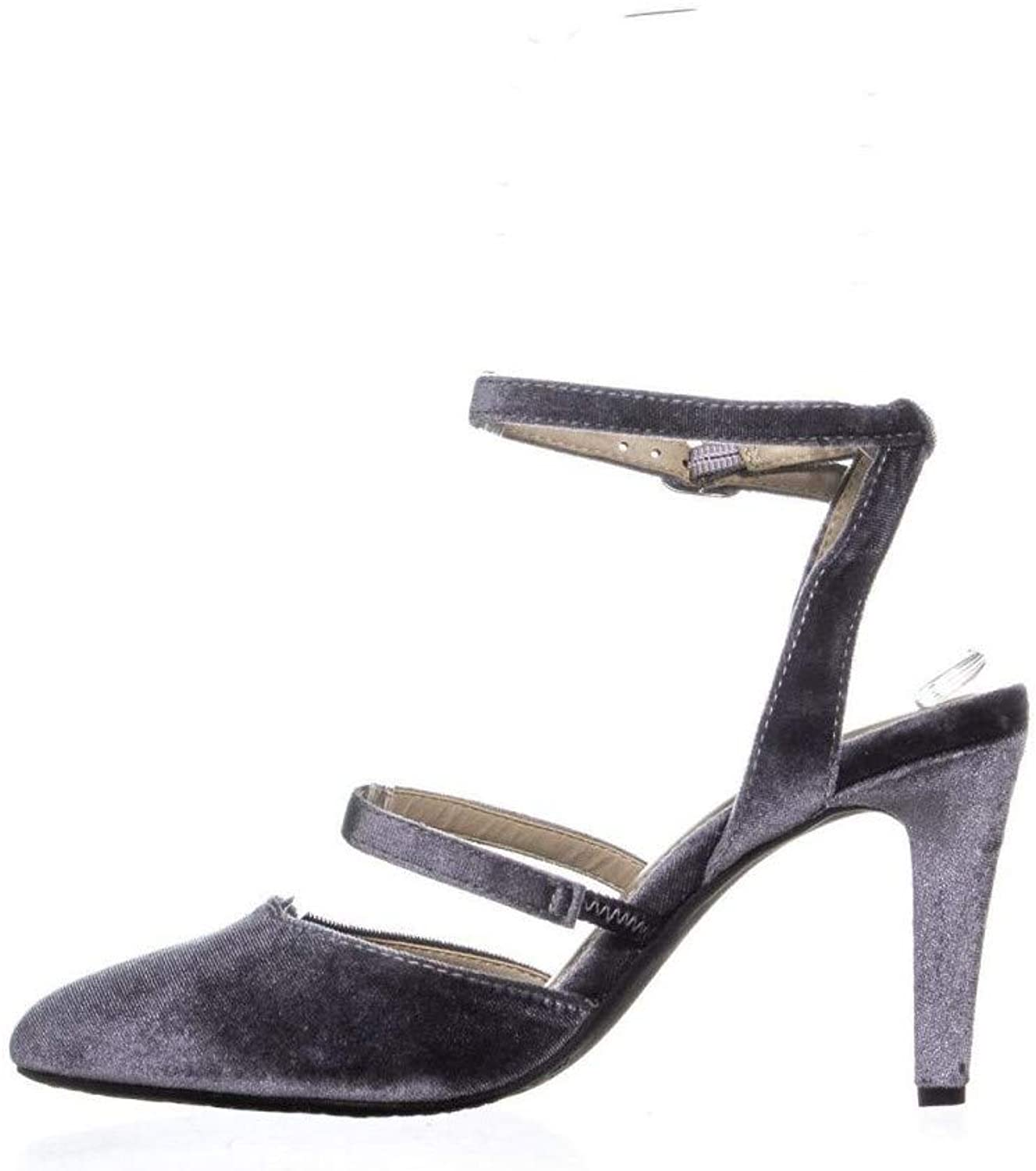 Rialto Womens Calina Fabric Closed Toe Ankle Strap Classic Pumps