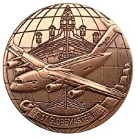 コインコレクション記念コインチャレンジコインアメリカ空軍グローバルポッドキャスターC17ヘリコプター飛行機コイン記念コイン収集なコイン記念バッジ