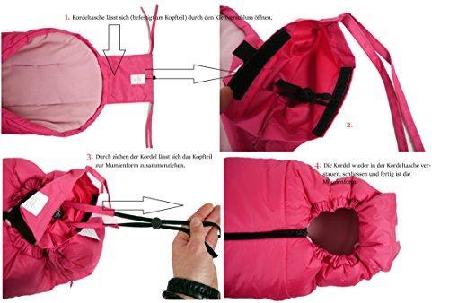 "Kaiser 6570637 – Fußsack ""Thermo Aktion"", Farbe: pink - 4"