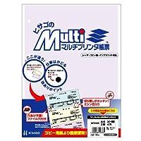 ヒサゴ マルチプリンタ帳票 A4コピー判別2面4穴 (100枚) BP2102