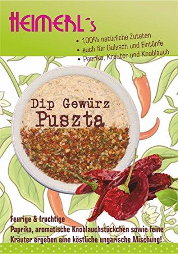 HEIMERLs Dip Puszta 80g - Leckeres Gewürz zum Zubereiten von Dip, Sauße und vegetarischen Brotaufstrich | ohne Zusatz von Glutamat | auch zum Kochen geeignet I nach ungarischem Rezept