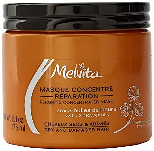 Melvita - Masque Cheveux - Soin Expert pour des Cheveux Nourris et Réparés - Crème...