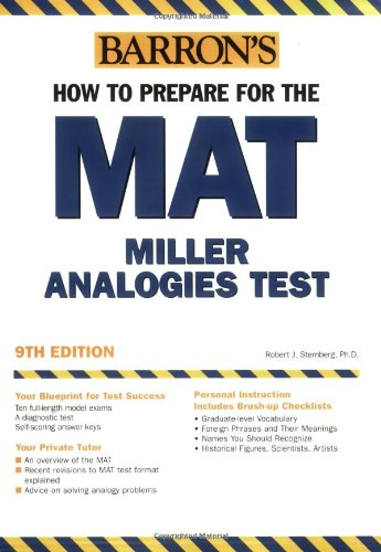 Barron's How to Prepare for the MAT: Miller Analogies Test, 9th Edition