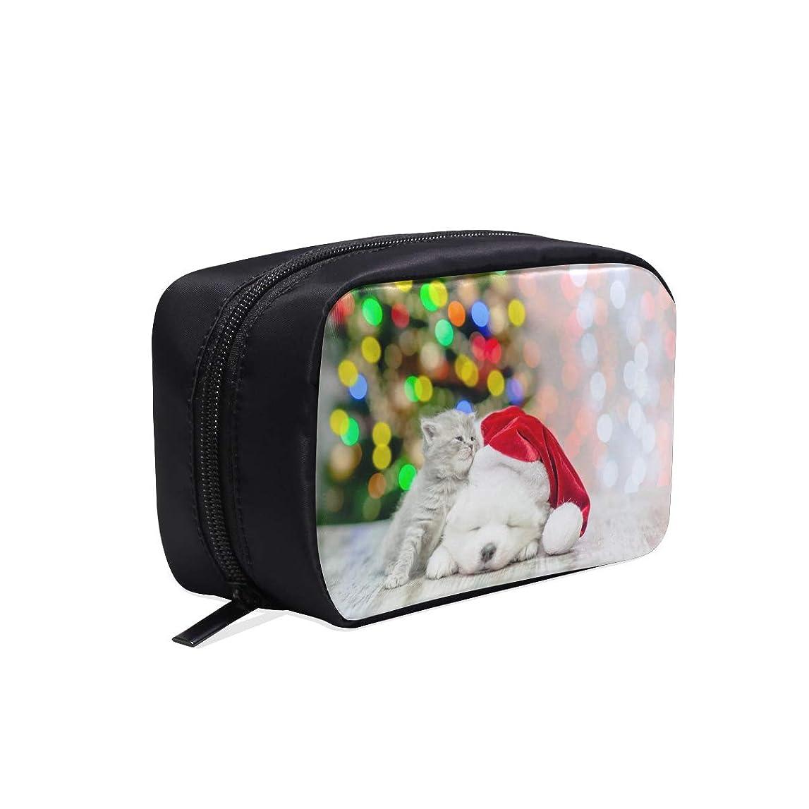 クリア弁護士作詞家LKCDNG メイクポーチ 寝ている 犬 猫 ボックス コスメ収納 化粧品収納ケース 大容量 収納 化粧品入れ 化粧バッグ 旅行用 メイクブラシバッグ 化粧箱 持ち運び便利 プロ用