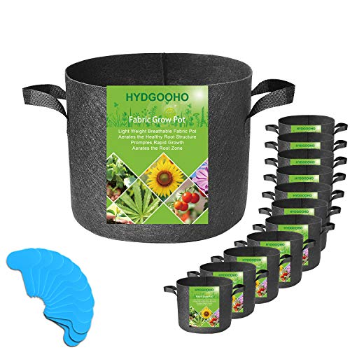 HYDGOOHO 2 Gallon Grow Bags 12-Pack for Potato/Strawberry/Plants/Vegetables Black Plant Container/Aeration Fabric Pots with Handles