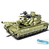 Dittzz Tank Militaire Jouet, Char Jeu de Construction, 475 Pièces Blocs de Construction Compatible avec Lego,Cadeau pour Enfants et Adultes