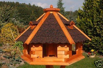 Deko-Shop-Hannusch Vogelhaus von klein bis Riesig XXL Futterhaus Futterhäuschen Vogelvilla V18, Vogelfutterhaus aus Holz