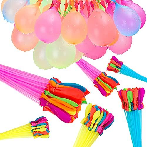 222 Stück Wasserbomben,Wasserbomben selbstschließend,Water balloons,luftballons 6 Bündel mit je 37 Wasserbomben,Kein mühsames Füllen und Verknoten von Wasserballons mehr