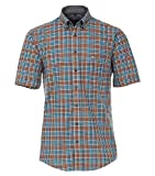 CASAMODA Camisa de cuadros Casual Fit. naranja XXXL