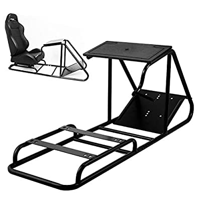 VEVOR Racing Simulator Cockpit Height Adjustable Racing Wheel Stand fit for Logitech G25, G27, G29, G920 Next Level Racing Wheel and Pedals Not Included