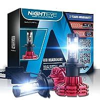 【2020最强 最新型 業界初モデル】NIGHTEYE 車LEDヘッドライト電球 変換キット 車用LEDライト H4 60 W 10,000lm 6,500 K 高輝度 超明るい LUMILEDS Luxeon zes COBチップ 100000時間寿命 2年間保証 ホワイト