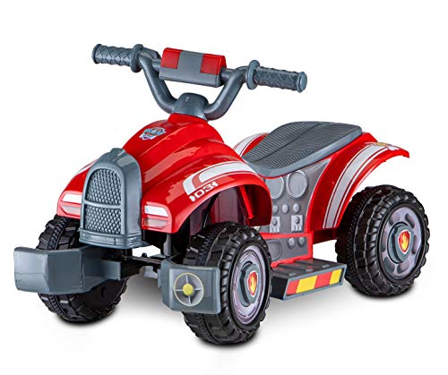 Kid Trax Nickelodeon's Paw Patrol Marshall Toddler Quad Electric Ride On Toy, 18-30 Months, 6 Volt, Max Weight 44 lbs, Red (KT1466)