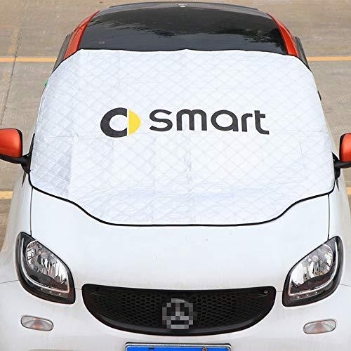 DENGD Für Smart 450 451 453 Fortwo Forfour Sonnenschutz Sandschutz Frostschutz Schneedecke Windschutzscheibe Markise Autoabdeckung Auto Sonnenschutz