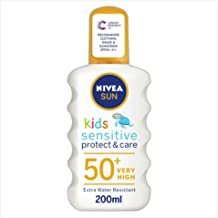 Nivea Kids Protect and Sensitive Sun Spray with SPF 50+, Very High - 200 ml