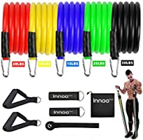 Innoo Tech Resistance Band, Exercise Resistance Bands Set Up to 100 lbs, Fitness Band Kit with 5 Fitness Tubes, Foam...