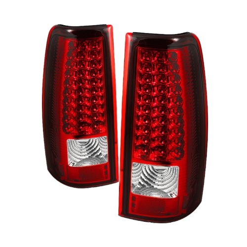 Spyder Auto ALT-ON-CS03-LED-RC Chevy Silverado 1500/2500/3500 and GMC Sierra 1500/2500/3500 Red/Clear LED Tail Light