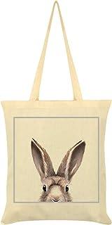 Inquisitive Creatures Hare Tote Bag Cream 38 x 42cm