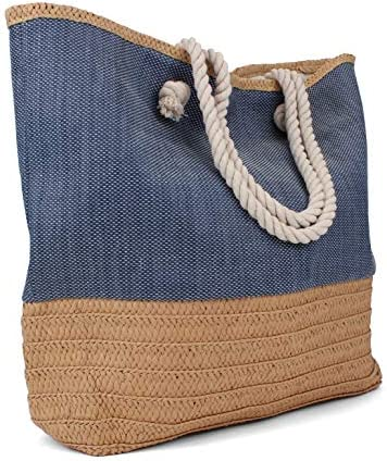 Tote Bag Beach Bag Beach Tote Large Tote Bag with Rope Handles Rutledge King Waverly Designer product image