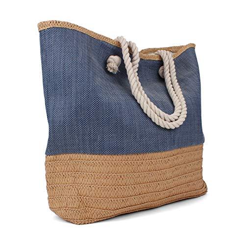 Tote Bag - Beach Bag - Beach Tote - Large Tote Bag with Rope Handles - Rutledge & King Waverly Designer Tote Bag - Straw Tote