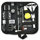 Shuye Kit de Reparación de Relojes 185PCS Juego de Herramientas de Barra de Resorte Profesional Kit Relojero