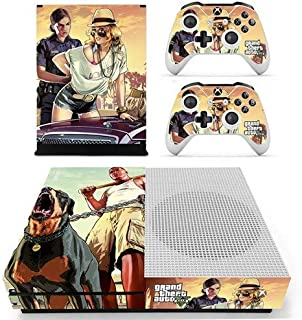 Xbox One S Vinyl Skin Set - GTA V HD Printing Skin Cover Protective for Xbox