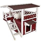 petsfit al aire libre gato casa de madera Lodge, ideal Cat condominio, resistente al agua...