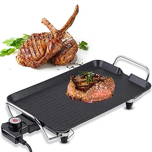 Parrilla Teppanyaki grande para 4-6 personas, parrilla eléctrica para mesa, plancha sin...