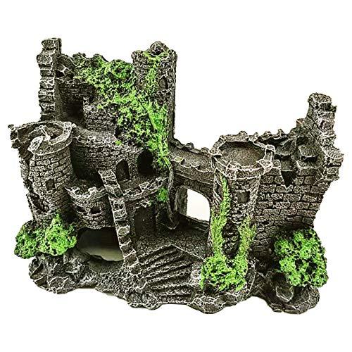 HIRAISM アクアリウム オーナメント オブジェ 城 遺跡 古城 隠れ家 水槽 インテリア 置物 飾り