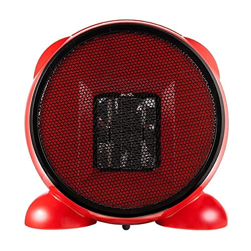 Mini Calentador Eléctrico De Dibujos Animados De 500 W, Calentador De Aire Interior PTC, Ventilador De Calefacción, Calentador De Escritorio, Calentador Eléctrico De Calentamiento Rápido E(Color:rojo)