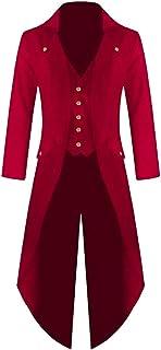 b448821938584 Shujin Veste Vintage Homme Steampunk Gothic Veste Long Manteau Carnaval  Cosplay Costume Tuxedo Uniforme